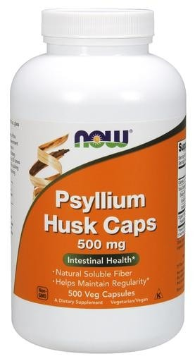 NOW Foods Psyllium Husk 500mg 500 Veggie Caps - AdvantageSupplements.com