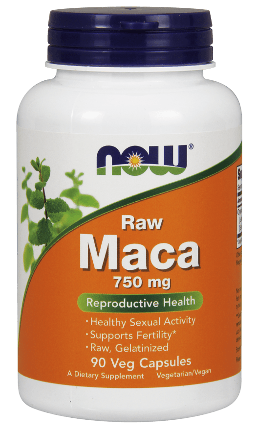 NOW Foods Raw Maca 750mg 90 Veggie Caps - AdvantageSupplements.com