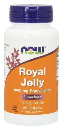 NOW Foods Royal Jelly 1000mg 60softgels - AdvantageSupplements.com