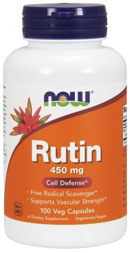 NOW Foods Rutin 450mg 100 Veggie Caps - AdvantageSupplements.com
