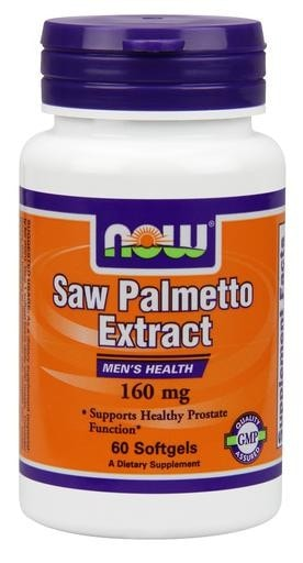 NOW Foods Saw Palmetto Extract 160mg 60softgels - AdvantageSupplements.com