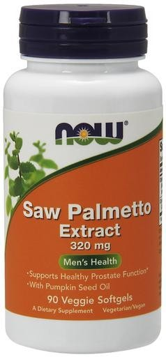 NOW Foods Saw Palmetto Extract (with Pumpkin Seed Oil) 320mg 90softgels - AdvantageSupplements.com