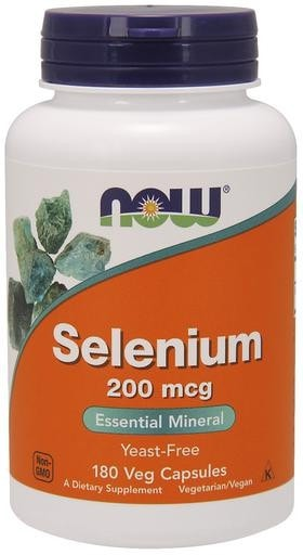 NOW Foods Selenium 200mcg 180 Veggie Caps - AdvantageSupplements.com