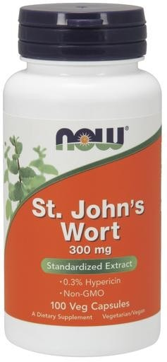 NOW Foods St. John's Wort 300mg 100 Veggie Caps - AdvantageSupplements.com