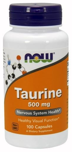 NOW Foods Taurine 500mg 100caps - AdvantageSupplements.com