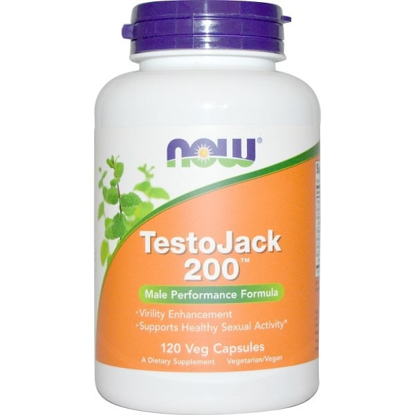 NOW Foods TestoJack 200 Male Performance Formula 120 Veggie Caps