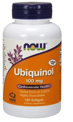 NOW Foods Ubiquinol 100mg 120softgels - AdvantageSupplements.com
