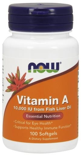 NOW Foods Vitamin A 10000IU 100softgels - AdvantageSupplements.com
