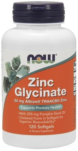 NOW Foods Zinc Glycinate 120softgels - AdvantageSupplements.com