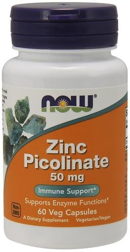 NOW Foods Zinc Picolinate 50mg 60 Veggie Caps