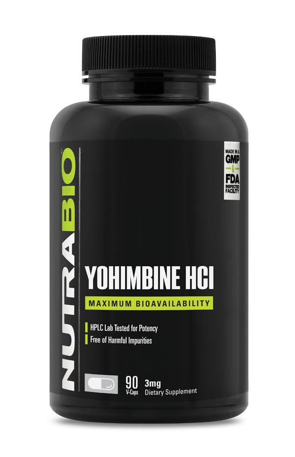 NutraBio Yohimbine HCL 3mg 90ct - AdvantageSupplements.com