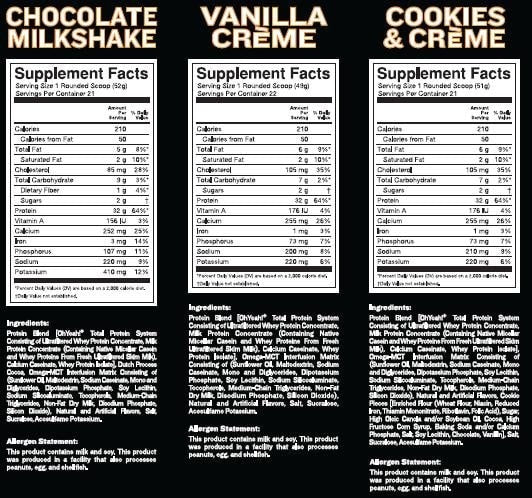 ISS OhYeah! Protein Powder Nutrition facts