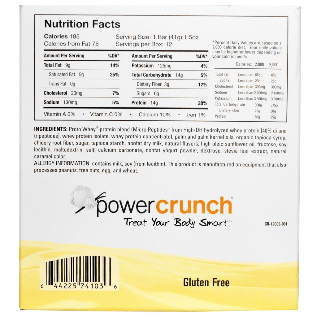 BNRG Power Crunch Bars 12 bars - AdvantageSupplements.com