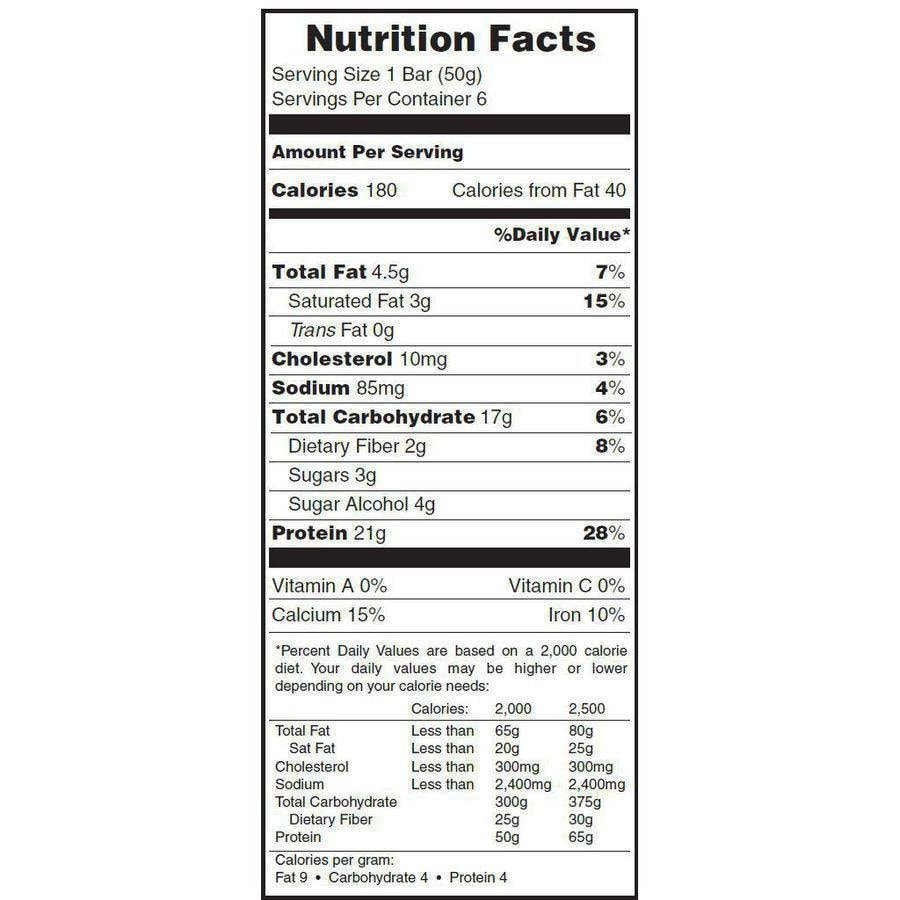 Pure Protein Protein Plus Bar Nutrition facts