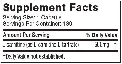 MuscleTech Essential Series 100% Platinum Carnitine 180caps - AdvantageSupplements.com