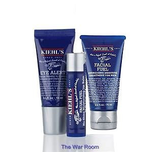 Kiehl's Facial Fuel Mens Moisture Travel Trio - Spa-llywood.com