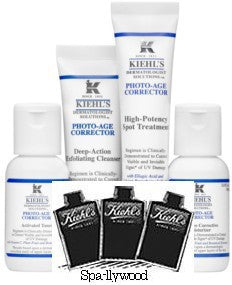 Kiehl's Photo-Age Correction 13 mixed sample packs - Spa-llywood