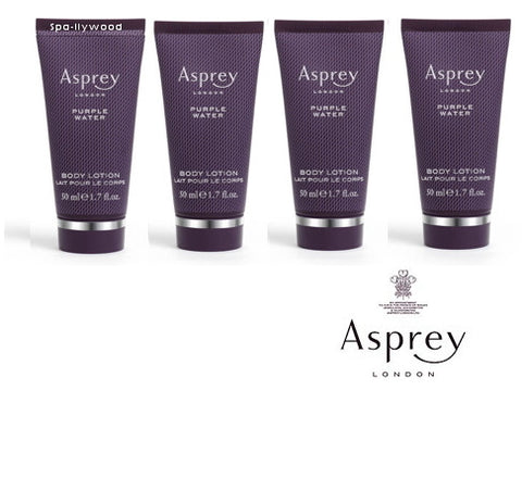 Asprey London Purple Water Body Lotion set of 4 - Spa-llywood.com