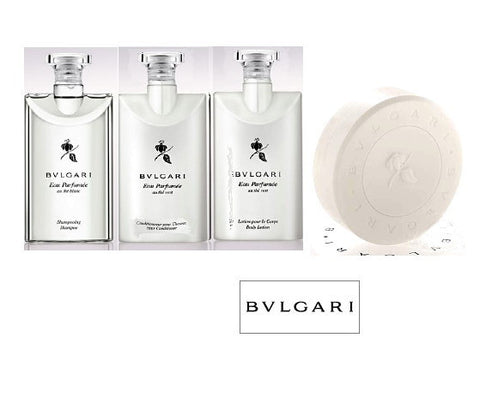 Bvlgari Eau Parfumee au the blanc Travel Set w/Soap - Spa-llywood.com