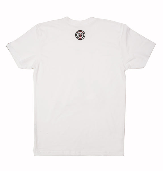 Skull & Bone Crew Neck T-Shirt (White)