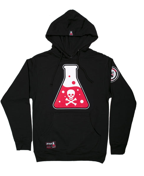Skull & Bone Fleece Pullover Hoodie (Black)