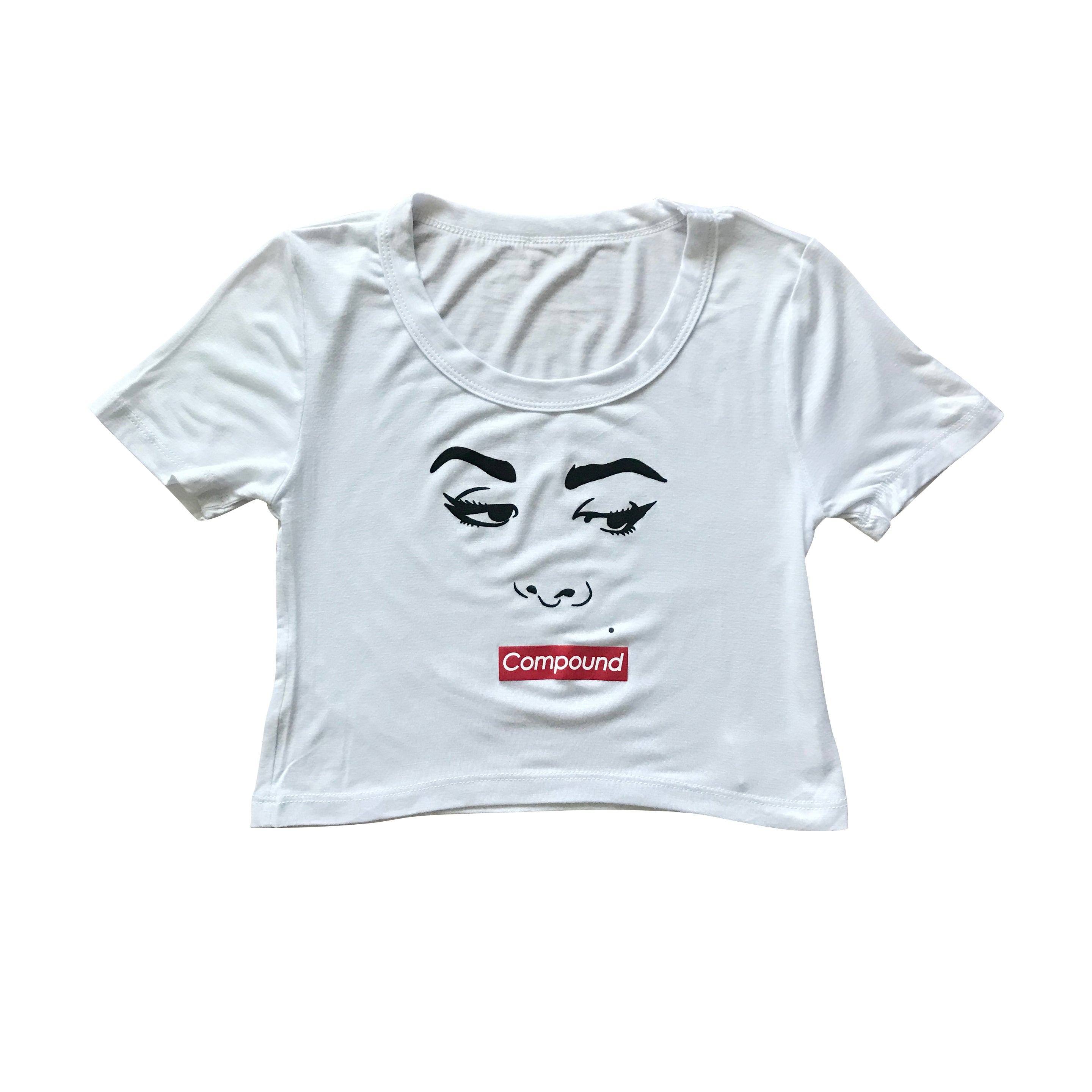 Women's Silence Crop Top (White)
