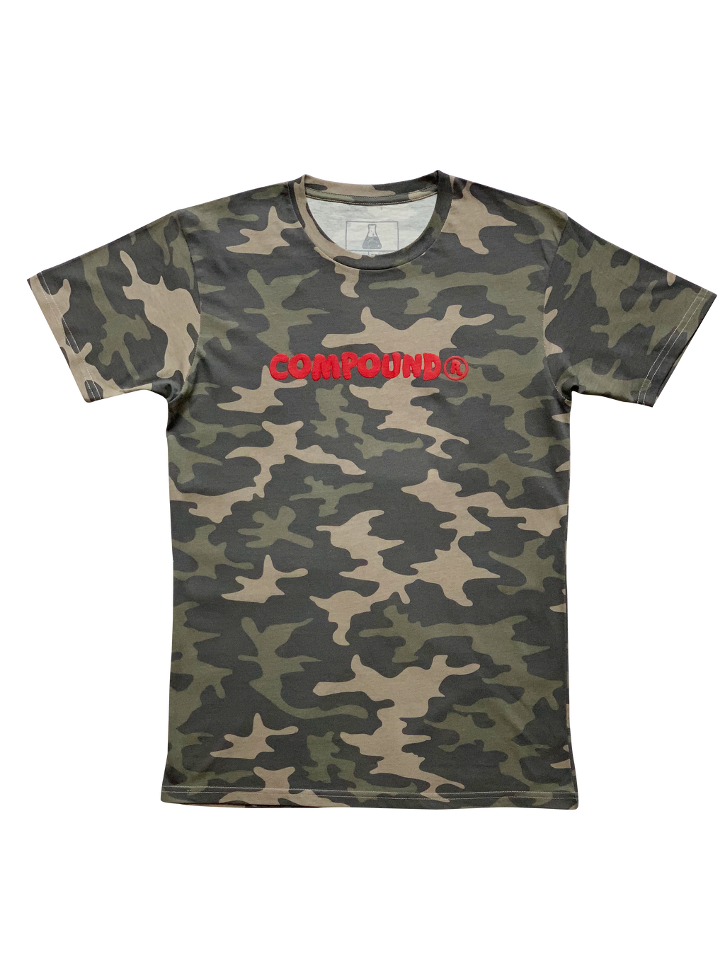 Compound Marshmallow Crew Neck T-Shirt (Camo)