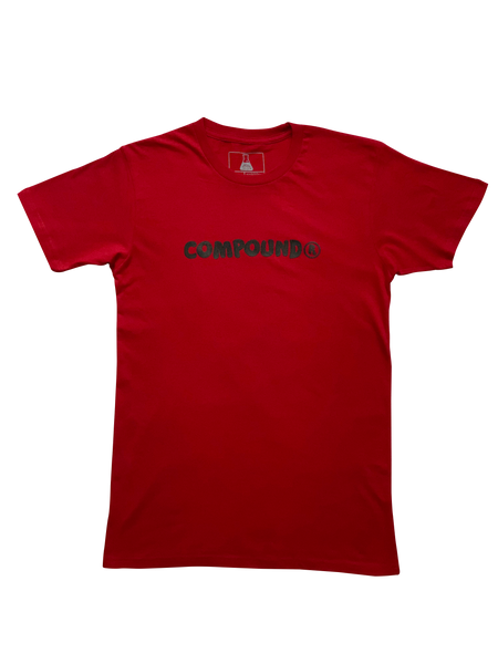 Compound Marshmallow Crew Neck T-Shirt (Red)