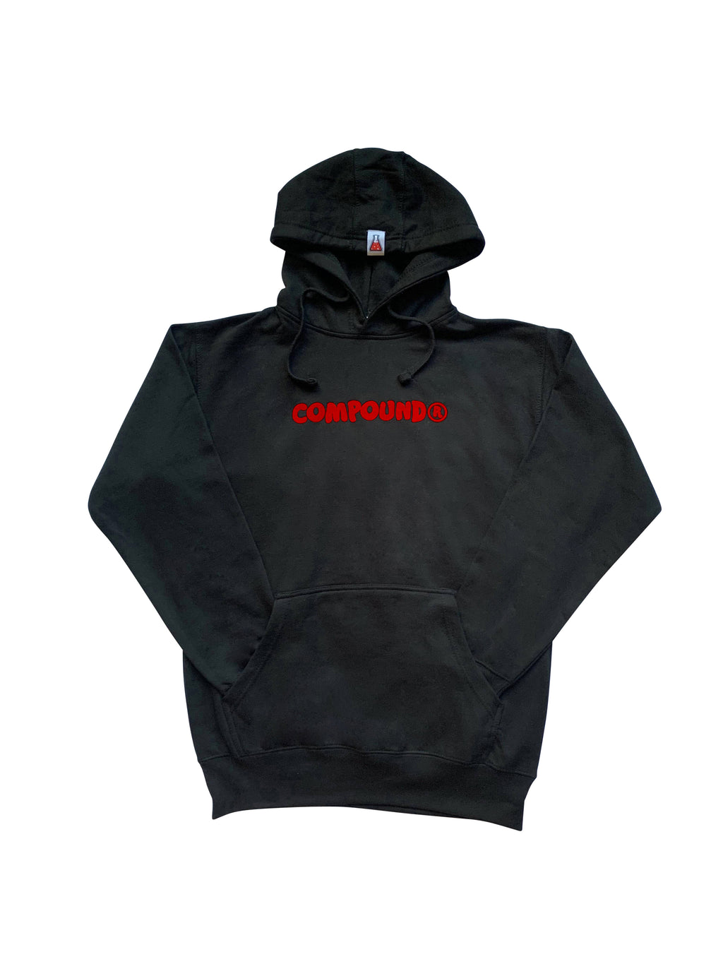 Compound Marshmallow Fleece Pullover Hoodie (Black)