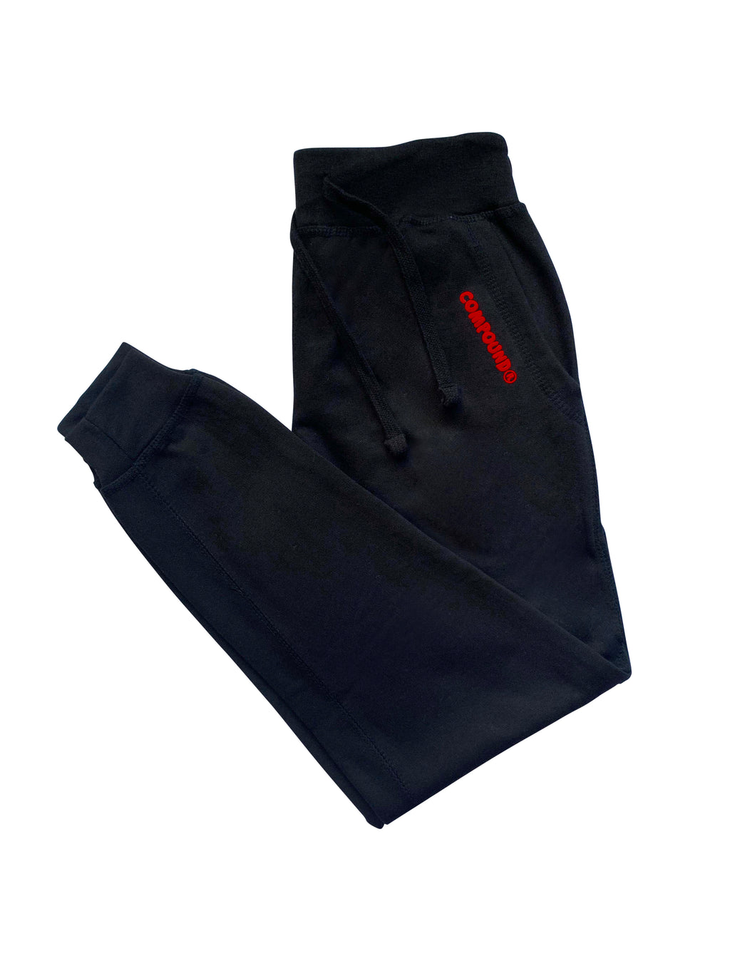 Compound Marshmallow Fleece Jogger Pants (Black)