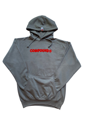 Compound Marshmallow Fleece Pullover Hoodie (Slate Grey)
