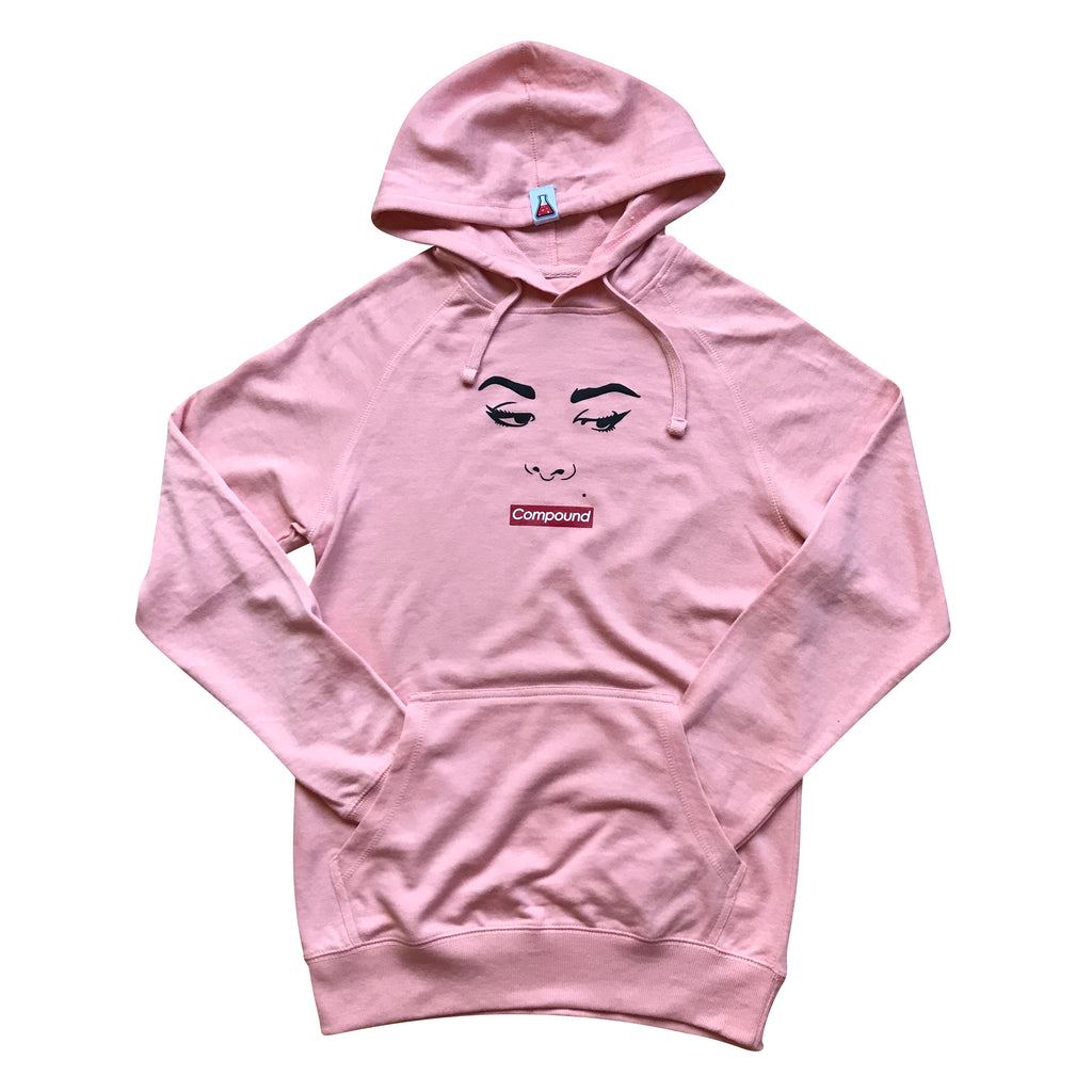 Silence Pullover Lightweight Hoodie (Pink)