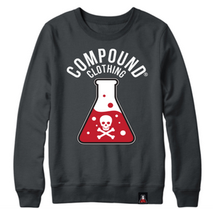 Compound Clothing Skull & Bone Crew Neck Sweat Shirt (Black)