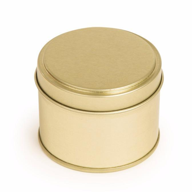 10cl Candle Tin - Gold - Your Crafts