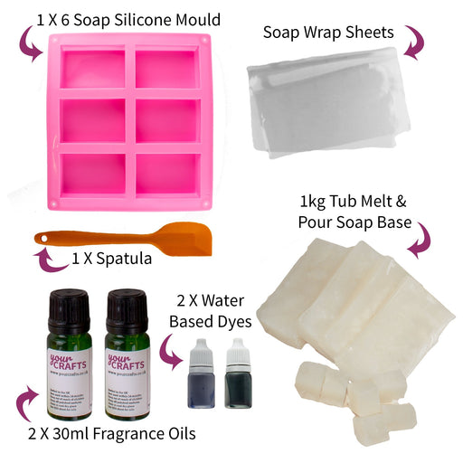 Soap Making Set - Tray Mould Kit - Your Crafts