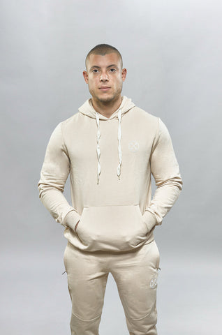 Khaki Bar-Basic Hoodie - Hoodie - Gym Apparel Egypt