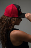 """FTW."" Mesh Trucker – Black/Red - Head Gear - Gym Apparel Egypt"