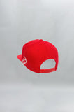 """Hustle Hard"" Premium 5 Panel Snapback – Red - Head Gear - Gym Apparel Egypt"