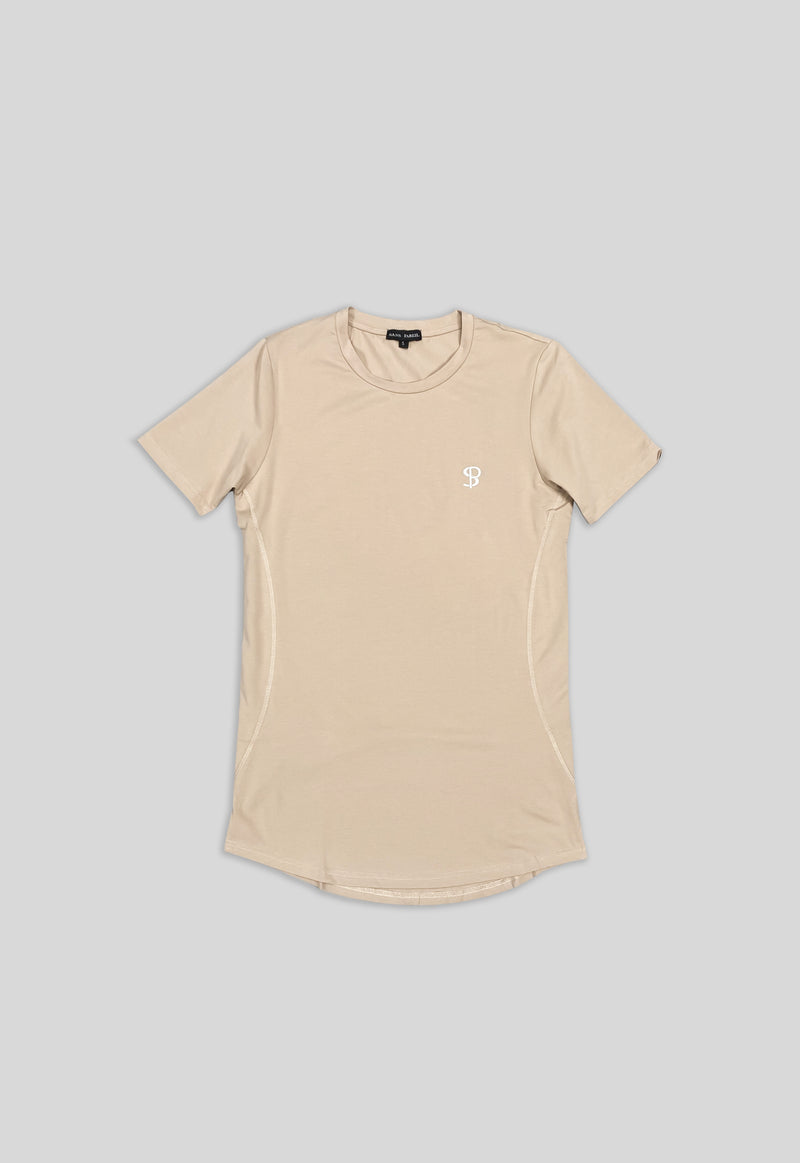 Tech-Side Panel Tee (Beige)