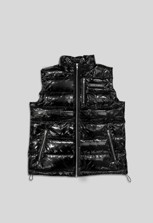 High Shine Puffer Gillet - Sans Pareil Clothing