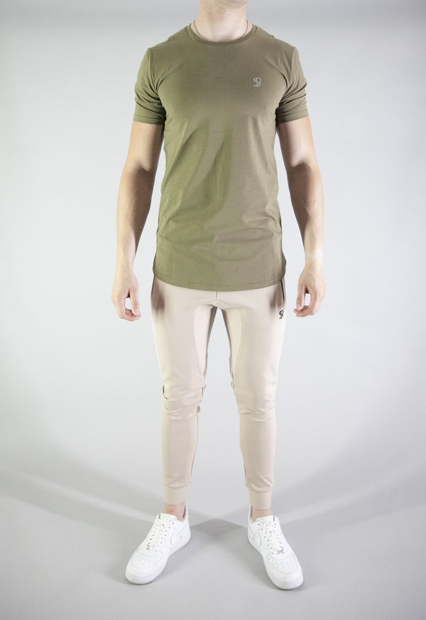 Tech-Side Panel Tee (Olive) - Sans Pareil Clothing