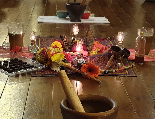 A Cacao Ceremony in a new type of Altar.