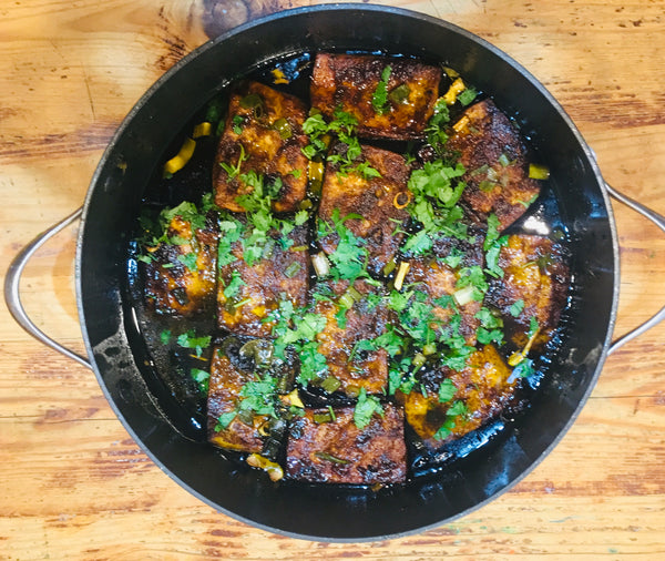 Sweet and Sour  Sticky Tofu Steak