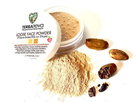 SUPERFOOD FACE POWDER-Flawless Natural Skin Dust-LIGHT, FAIR and TAN-BRONZER