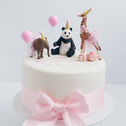 Animal Cake Topper with Party Hat