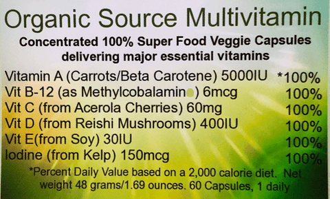 Organic Source Multivitamin (Two months for the price of one) Life, Not Labs