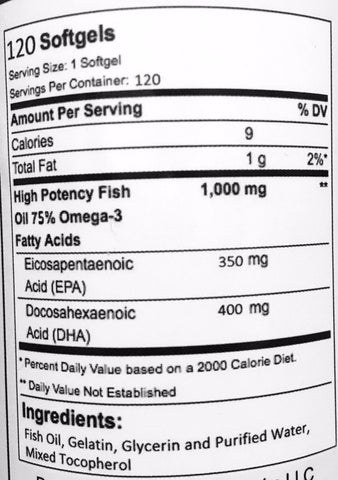 Triple Strength Omega 3 Fish Oil Life, Not Labs