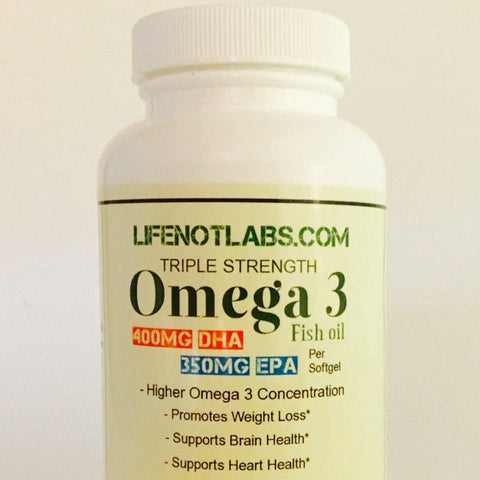 Triple Strength Omega 3 Gel Caps.  No aftertaste
