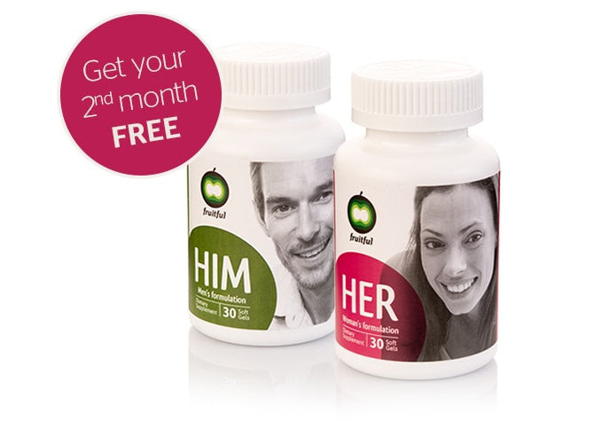 Fruitful Way Fertility Supplements for Him & Her: 2-Pack, 1-Month Supply