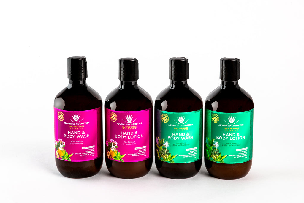 Six Star Series Hand & Body Wash & Lotion bundle
